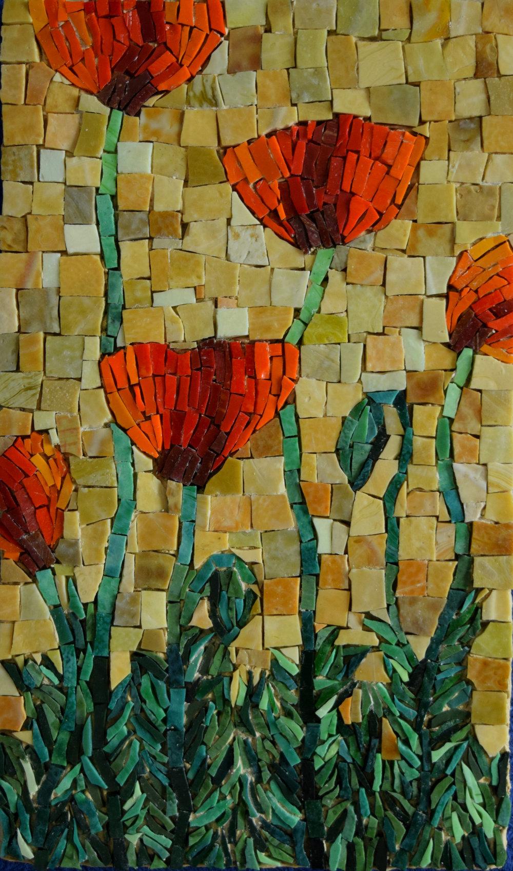 Poppies (Commission) (Smalti)