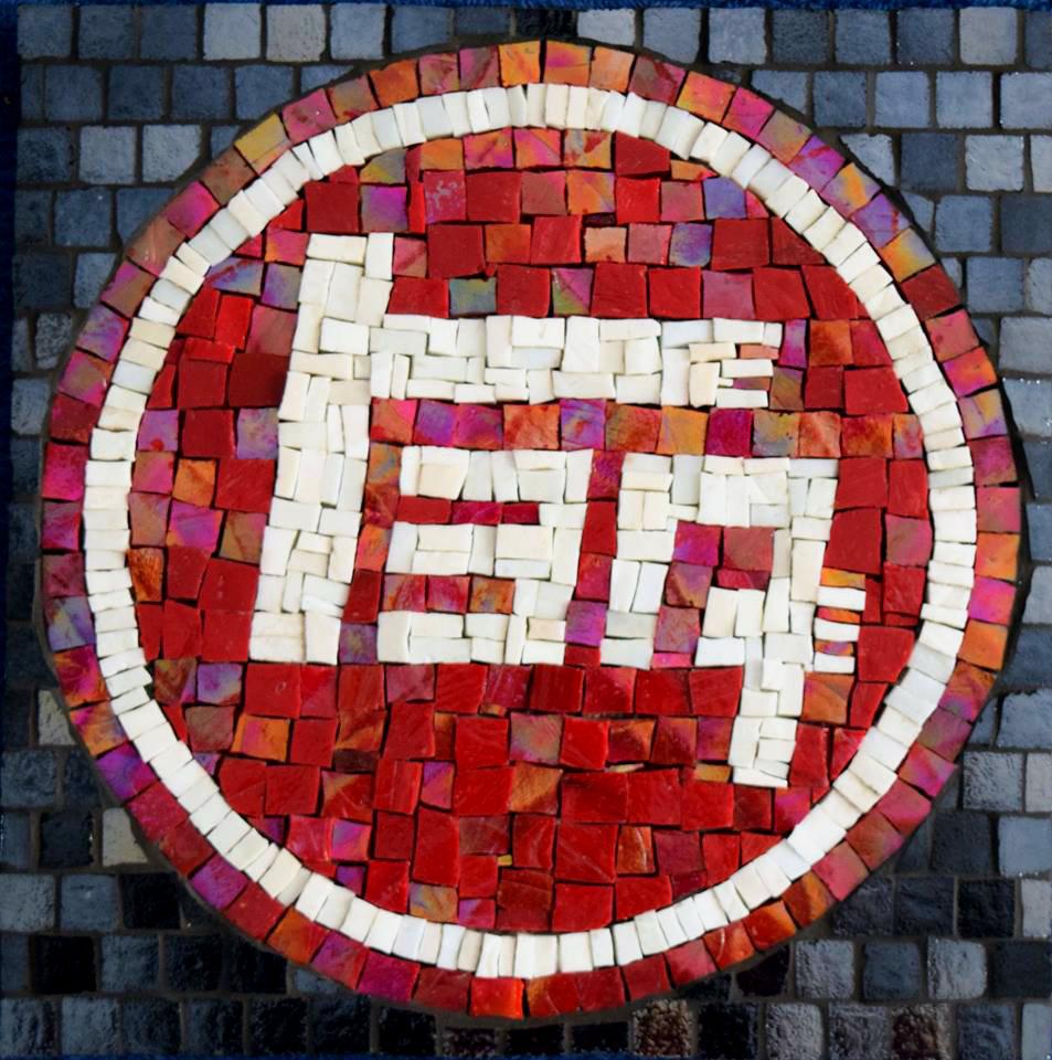 Toyota Logo (Smalti, Glass Tiles)