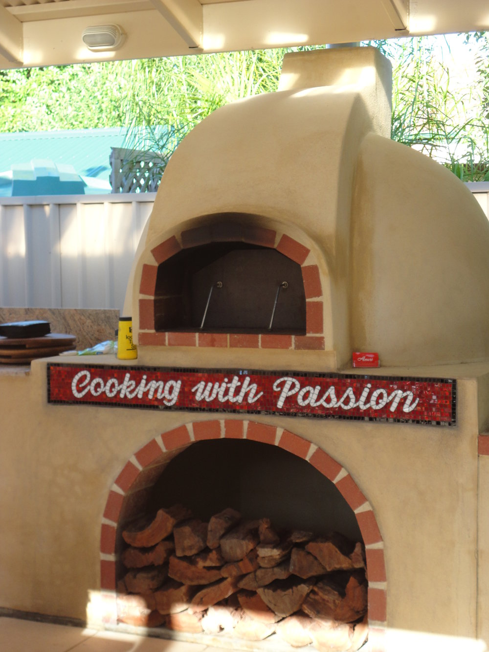 Amore Wood Ovens (Commission/Installation) (Stained Glass)