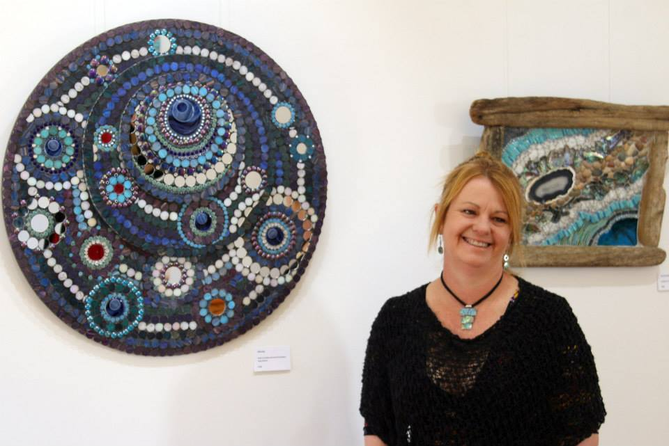 Solo Exhibition @ Mrs Harris' Shop, Adelaide, South Australia 2014 (with Eternity and Seventenths Mosaics)