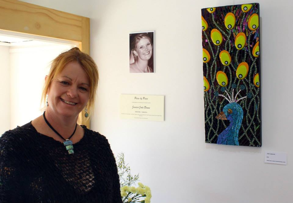 Solo Exhibition dedicated to Jessica Bruns (Carol's Niece) Jess's Peacock (Mosaic)