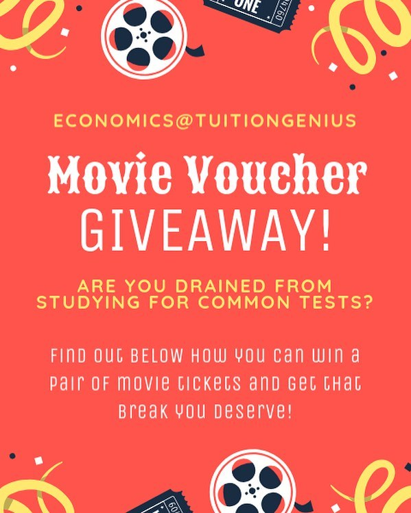 GIVEAWAY INSTRUCTIONS: 1. follow this account @tuitiongenius and like this photo (we'll be checking! 👀) 2. tag 5 friends who don't follow this account in the comments section  3. that's it!  3 pairs of Golden Village tickets will be given out to 3 randomly selected winners (using a name generator). Winners will be contacted via DM. Giveaway ends 31 Jan 2018 and you can tag more people to increase your chance of winning! 😉 Good luck!