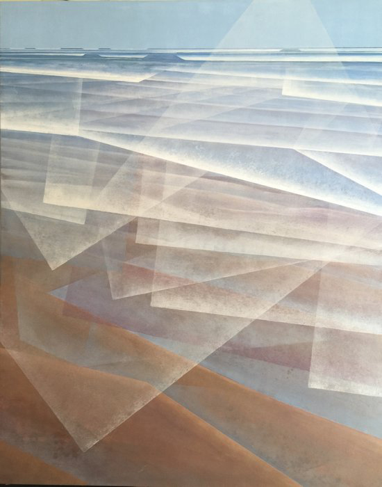 'Blue Space - Goolwa' Acrylic on canvas, 150 x 120cm
