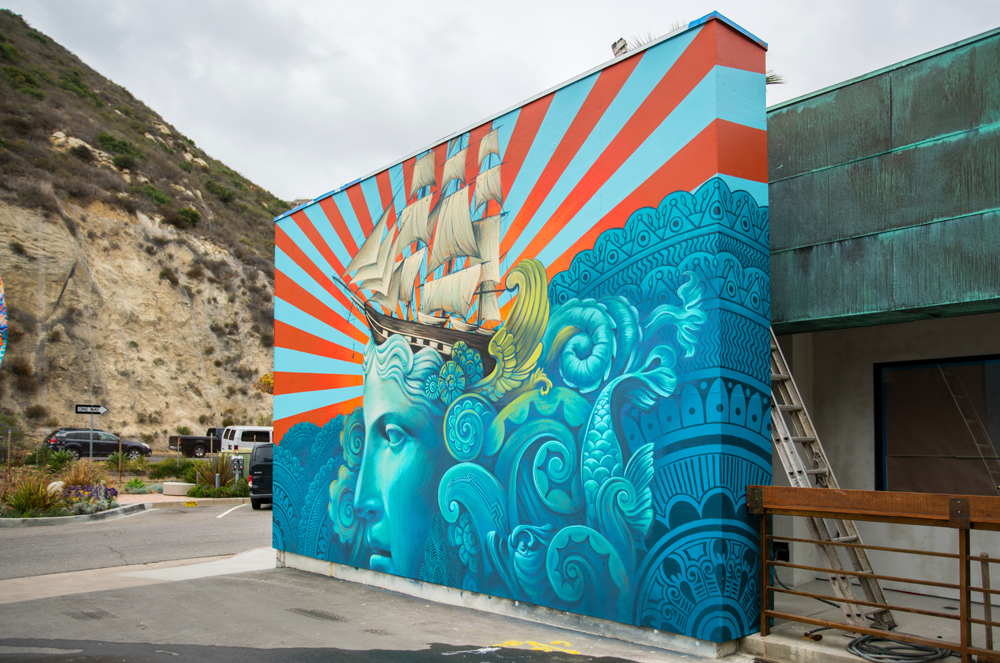 Arts Commission unanimously approves expansive mural project in Laguna's Arts District    By SUZIE HARRISON   Some of the longtime dreams and creative vision for Laguna's Civic Arts District are closer to becoming a reality with the approval of an exciting mural project along Laguna Canyon Road. On Monday, March 26, the City's Arts Commission unanimously approved temporary murals for up to five years for the Laguna Creative Ventures properties, located between 891 and 777 Laguna Canyon Road. Owned by prominent local businessman Mo Honarkar, CEO and President 4G Ventures, his plans have always been to revitalize the Arts District.