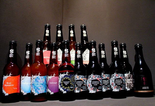 HIGHLIGHT: We absolutely LOVE @sirencraftbrew. Look at that range! Definitely the most represented brewery in our shop. Why, you ask? Their thirst for innovation is second to none.  If you want to find out more about the brewery, come to our event with @sirencraftbrew_jamie  TOMORROW at 3pm! . . . #beer #craftbeer #craftbeers #fulham #wandsworth #instabeer #beerstagram #beertography #beertographer #craftbeerculture #hazyipa #juicebomb #citra #ipa #toprated #craftbeergeek #tatebritain #sirenbrewery #beerart #beerinnovation #callowruscoe #tutoredtasting #beertasting #freeevent #instacraftbeer #beerrange