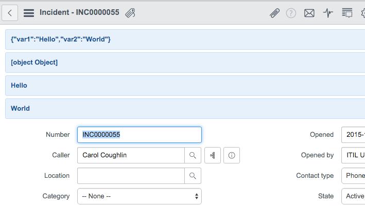 GlideAjax: return multiple values using JSON – CloudSpirit