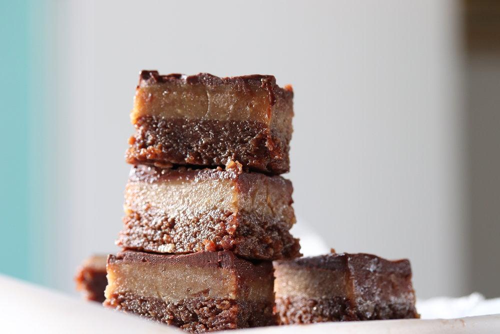 Brownie Caramel Slice