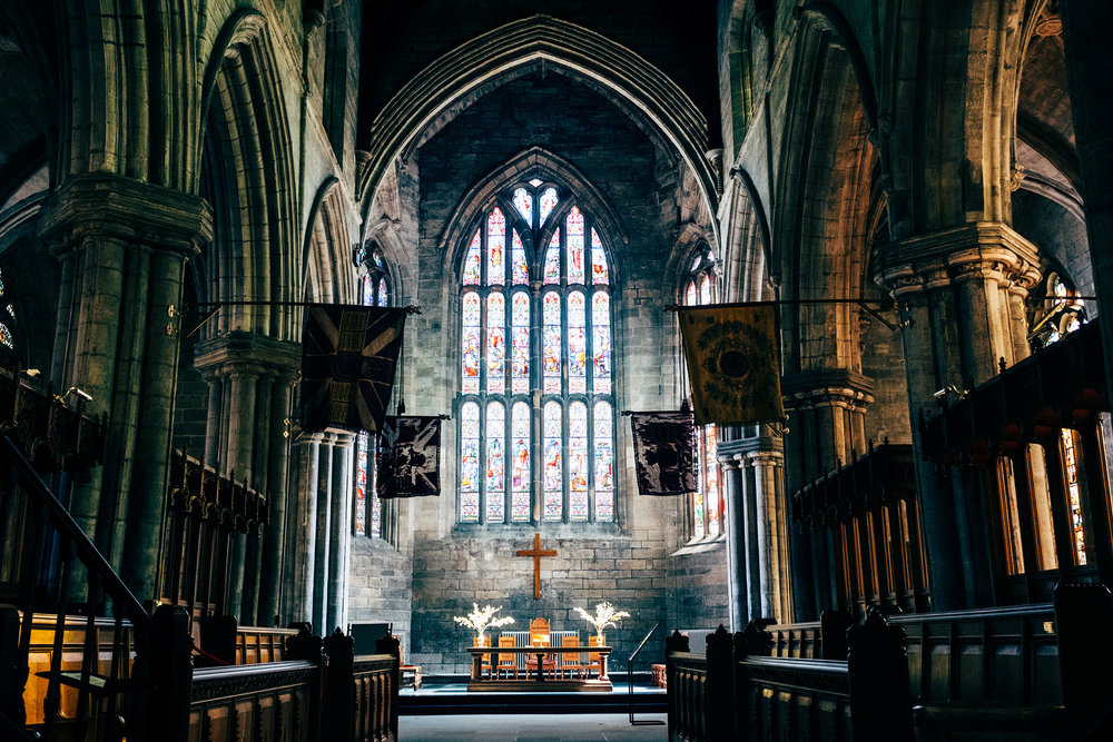 Holy Rude  church in Stirling if you want to feel like in Game of Thrones