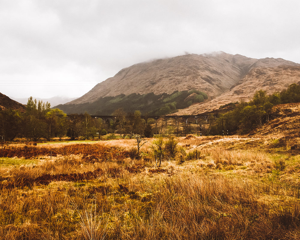 Glenfinnan Viaduct, you may recognize it from Harry Potter movies