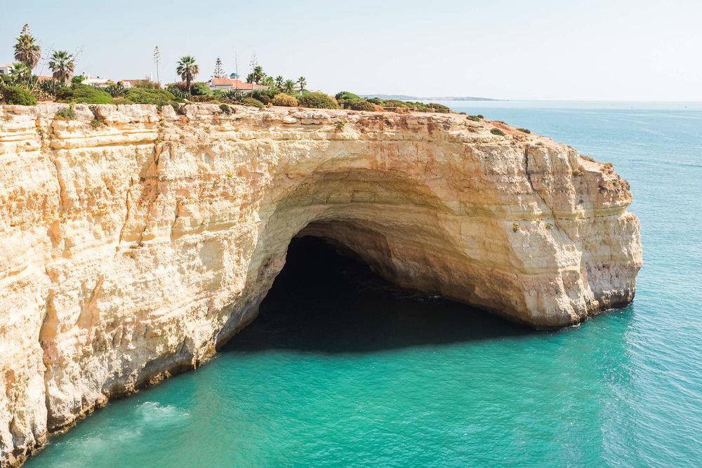 Cliffs around Benagil beach