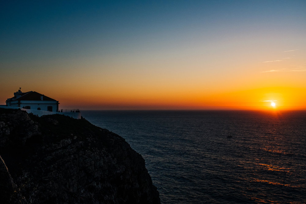 Sunset at the Lighthouse of Cabo de São Vicente