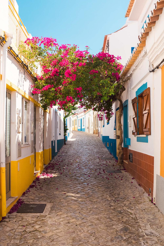 Ferragudo colorful streets