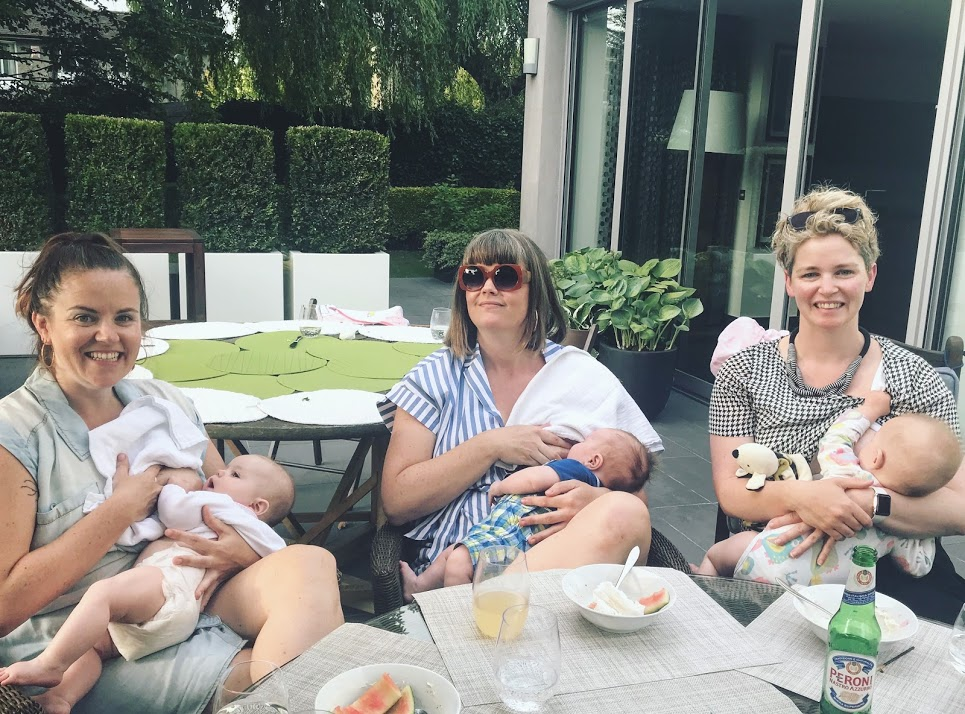 Bosom Buddies: with my two sisters and their bubs. How could I not put undue pressure on myself to stay in this super cool mini gang, I ask you?!