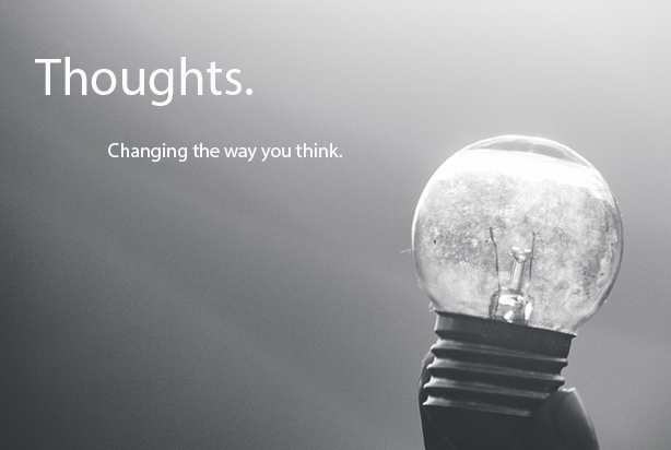 Thoughts. - Changing the way you thinkBy John Simpson