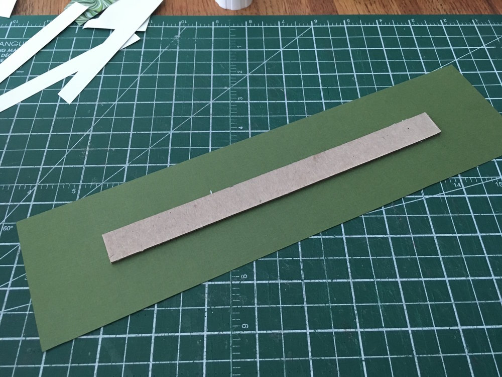 Step 7: - Prepping the spine means cutting a 8.75