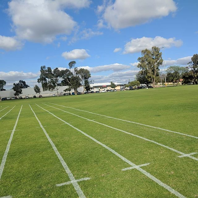 Skies as pretty as our lines! Contact us now for a free quote for the upcoming season!  #grass #linemarking #whitelines #uberline #athletics #hurdles