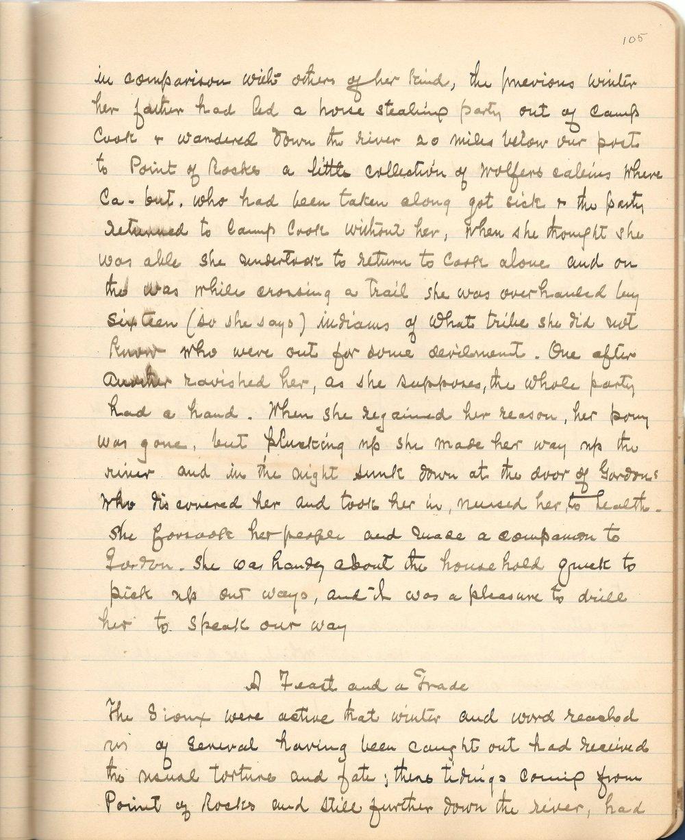 Page 105 of the memoir.