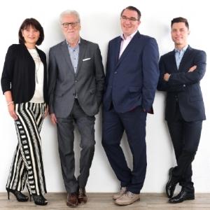 v. l. n. r.: Gabriele Jahn, Max F. Jahn, Jörg Tittnack und Moritz Jahn