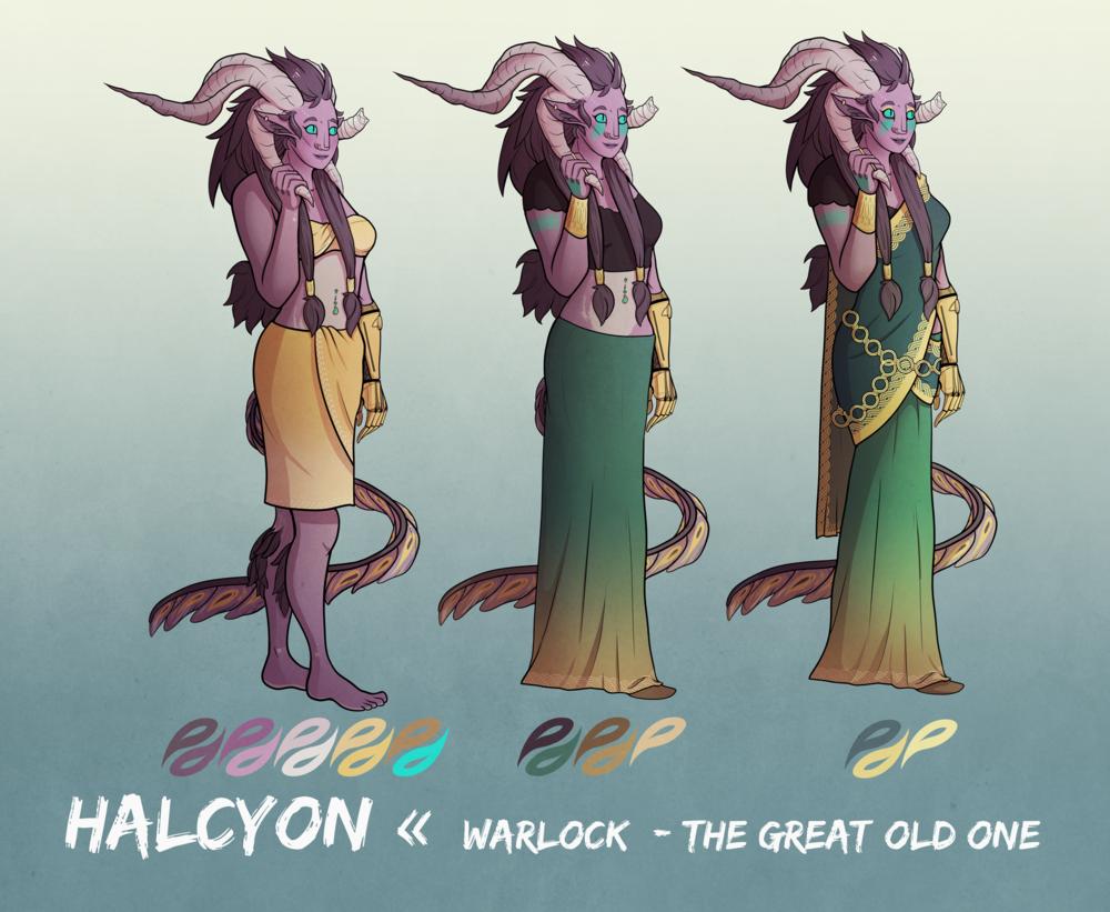 Halcyon :: D&D Character Design (2017)