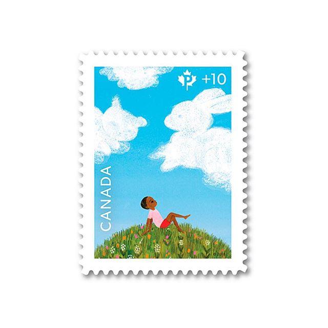 Canada Postage Stamp using Gibson. Design: Matt Warburton CGD, FGDC, GDC Ethics Chair.