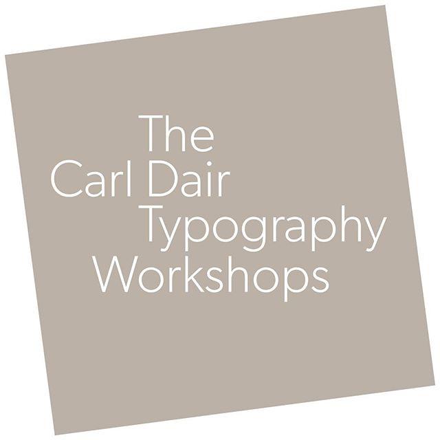 The Carl Dair Typography Workshops logo using Gibson. Original wordmark design; Nick Firkus, @hamblywoolley