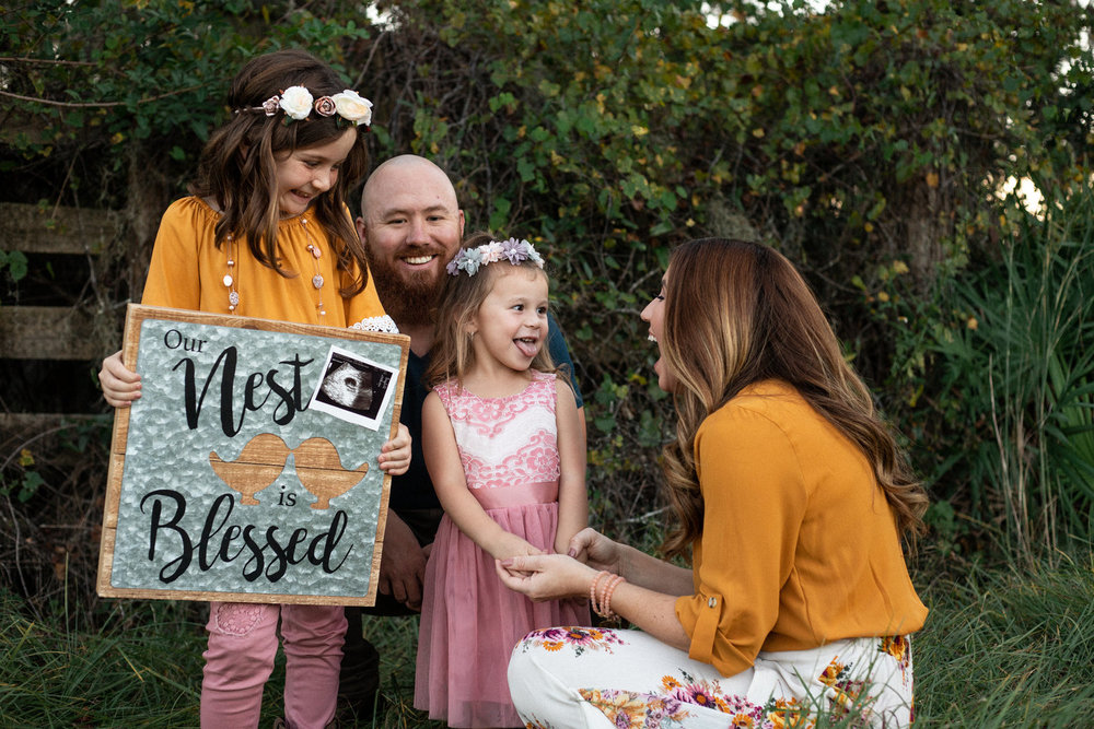 April and family   Pregnancy Announcement -