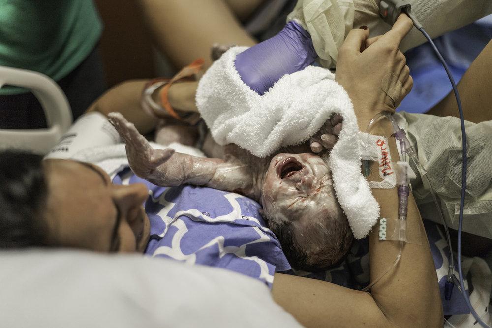 baby Everett   Birth session -