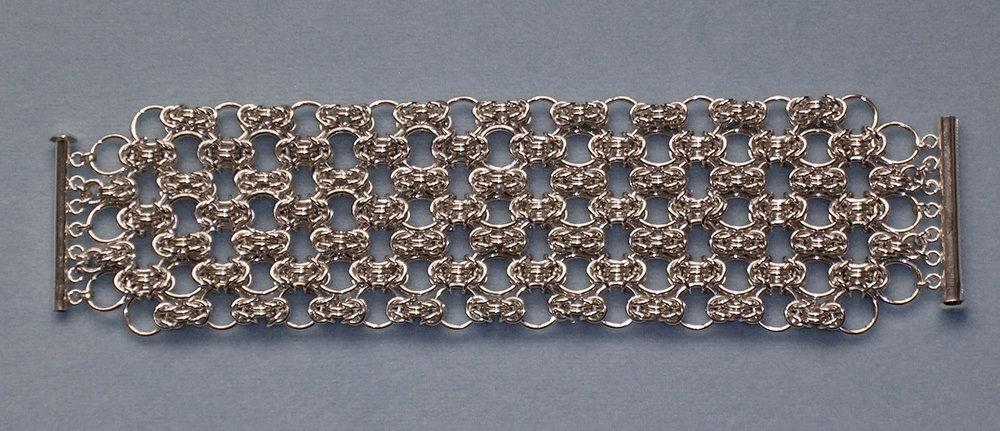 Wide Byzantine Lace Bracelet