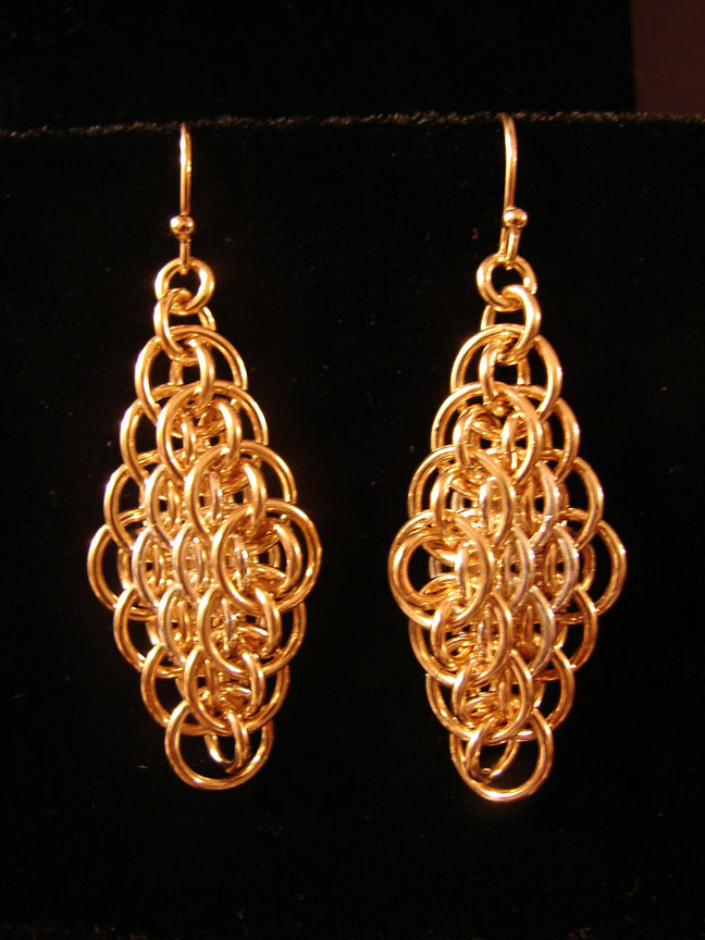 Bias Dragonscale Weave Earrings