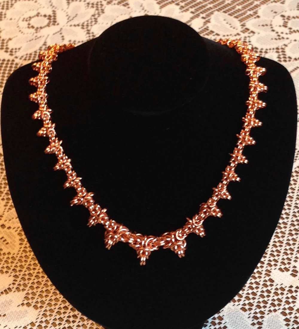 Byzantine Trefoil Graduated Necklace