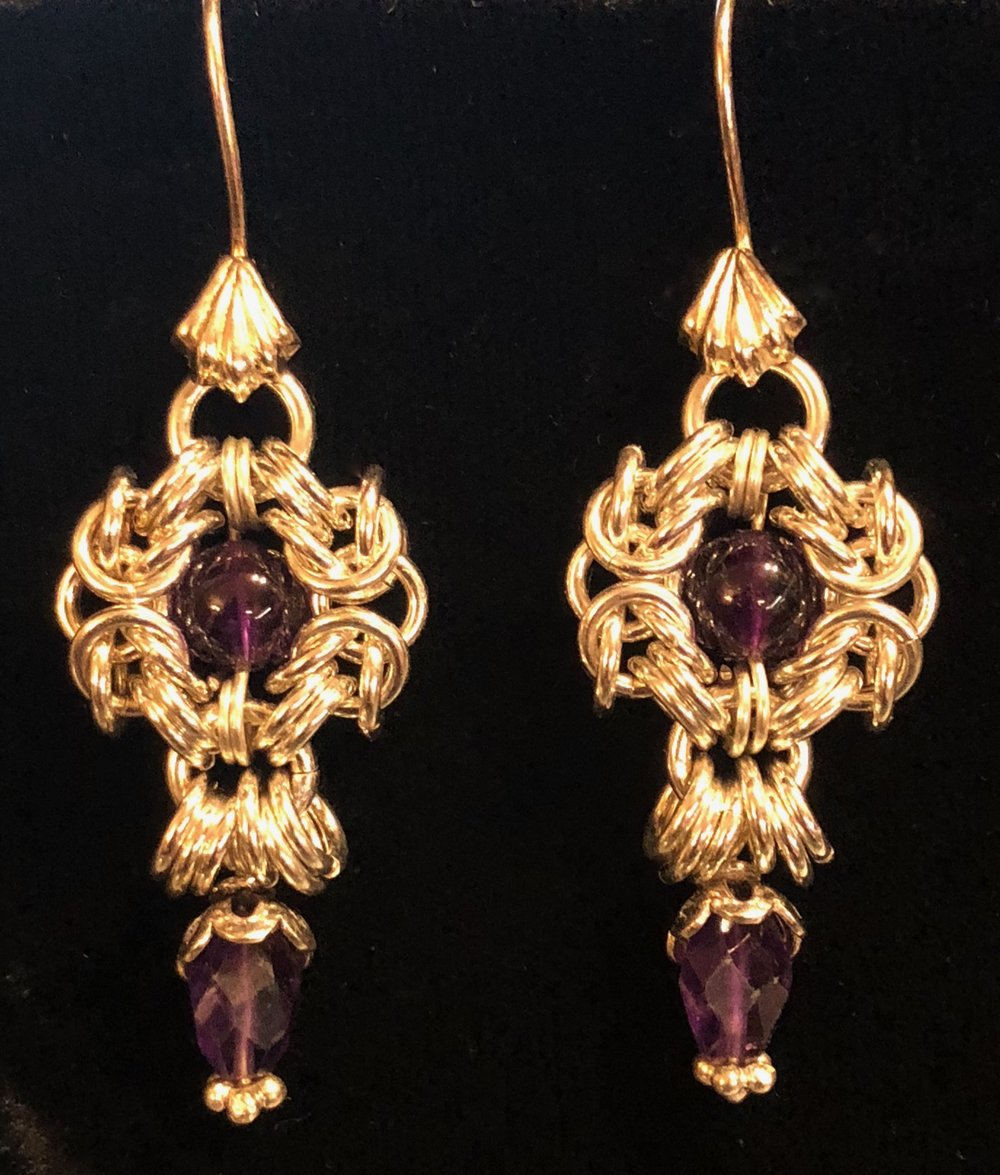 Fancy Romanov Earrings with dangles