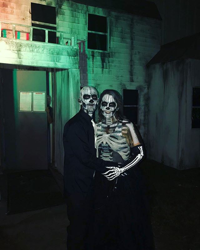 Picture taken outside of Abraham Gainey's house on Halloween night. Only THREE more opportunities to experience Torment Factory's 40 actor live haunt Feast of Fear. Buy your tickets now!  #tormentfactory #hauntedhouse #gainesville #makeup
