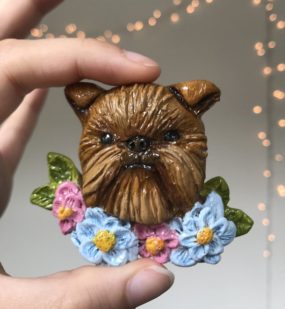Brussels Griffon Dog Magnet