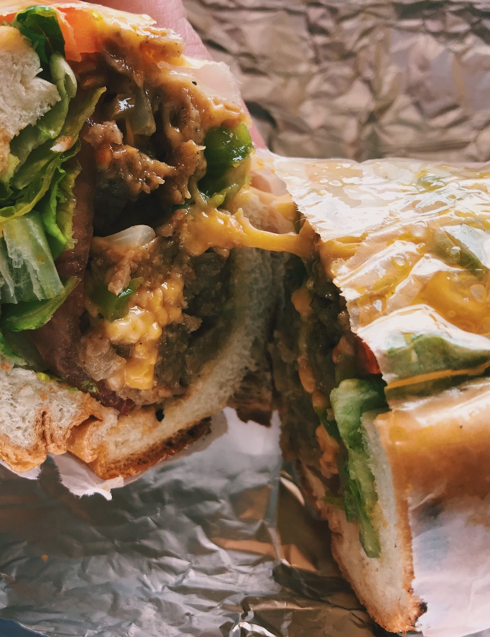 The Bronx Vegan eats: vegan chopped cheese -