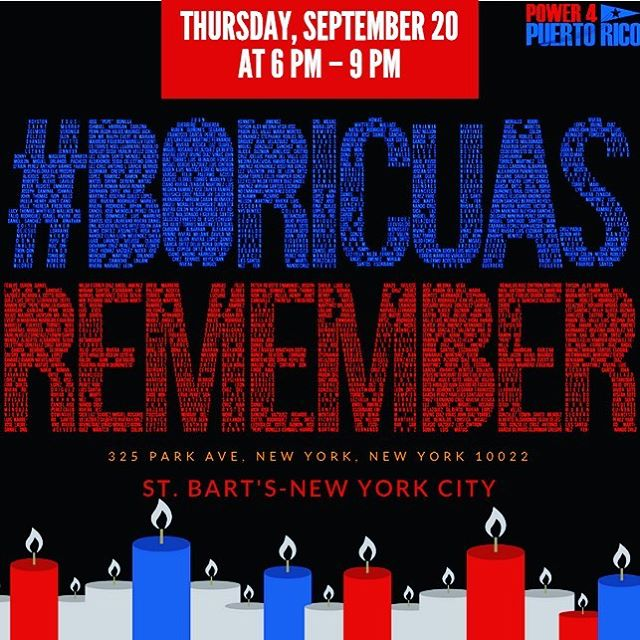 #BoricuasRemember 9/20 with @power4pr @vamos4pr @latinovictoryus SEE LINK IN BIO