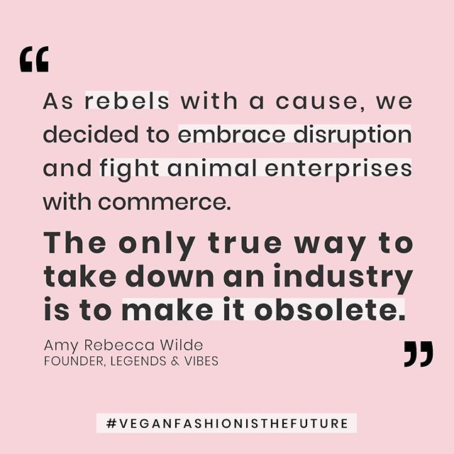 When a company or an industry is proud of its business practices, they will shout it from the rooftops. When they're threatened with what the truth brings, they will stop at nothing to cover it up and shield the public from the truth. ⁣⁣ ⁣⁣ Corporations and politicians have long targeted animal liberation activists for damaging or interfering with the operations of animal enterprises. ⁣⁣ ⁣⁣ They've passed legislation like the Animal Enterprise Terrorism Act (AETA) and a number of Ag-Gag laws to silence whistle-blowers. ⁣⁣ ⁣⁣ We support activists that continue to expose the injustices that these industry behemoths are responsible for. ⁣⁣ ⁣⁣ As rebels with a cause, we decided to embrace disruption and fight fire with commerce, because the only true way to take down an industry is to make it obsolete. Take coal vs solar. Industries that don't adapt… disappear. ⁣⁣ ⁣⁣ Just ask the floppy disk. We're going to see that with leather, fur, and wool. Tick tock.⁣⁣ ⁣⁣ We're committed to revolutionizing the fashion industry and dismantling animal enterprises one dress at a time. ⁣⁣ ⁣⁣ Let's make vegan fashion the future. Pre-order our next collection on @Kickstarter. Legends & Vibes | Style With A Statement. ⁣⁣ LegendsAndVibes.com/Kick (Link In Bio)⁣⁣ ⁣⁣ #LegendsAndVibes #VeganScene #VeganFashionIsTheFuture