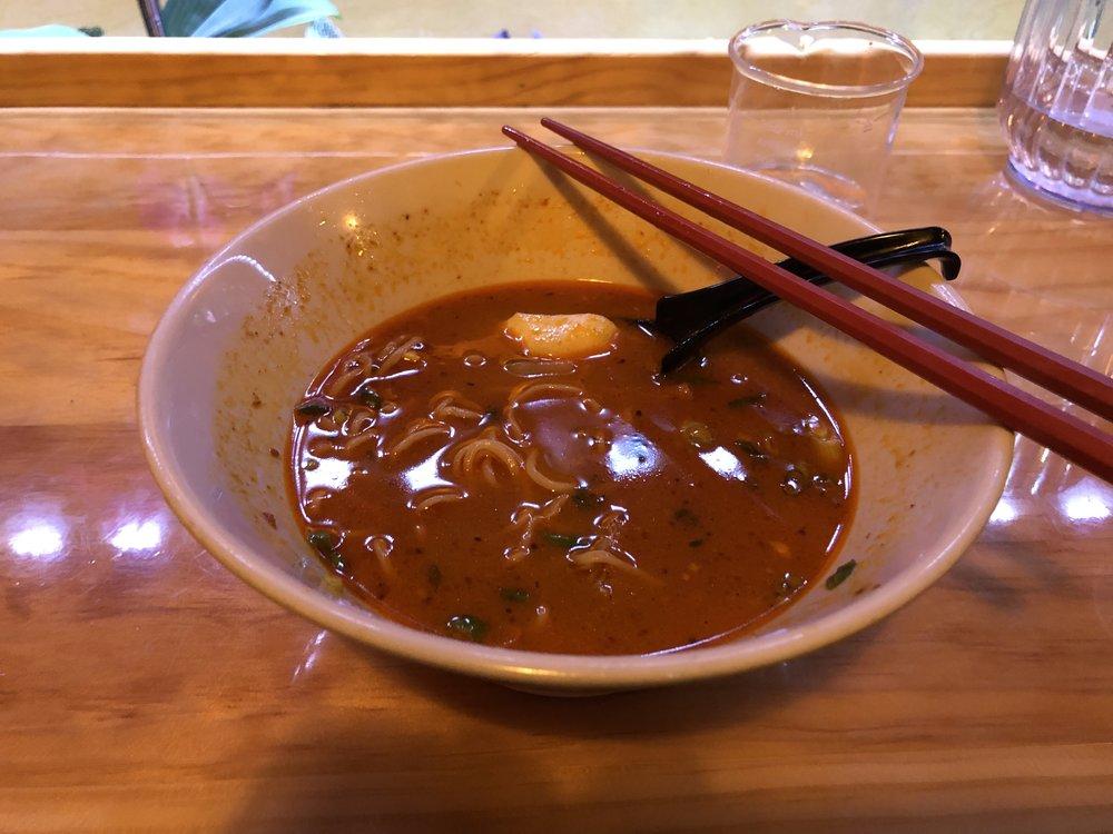 Mendez's half-eaten spicy ramen.