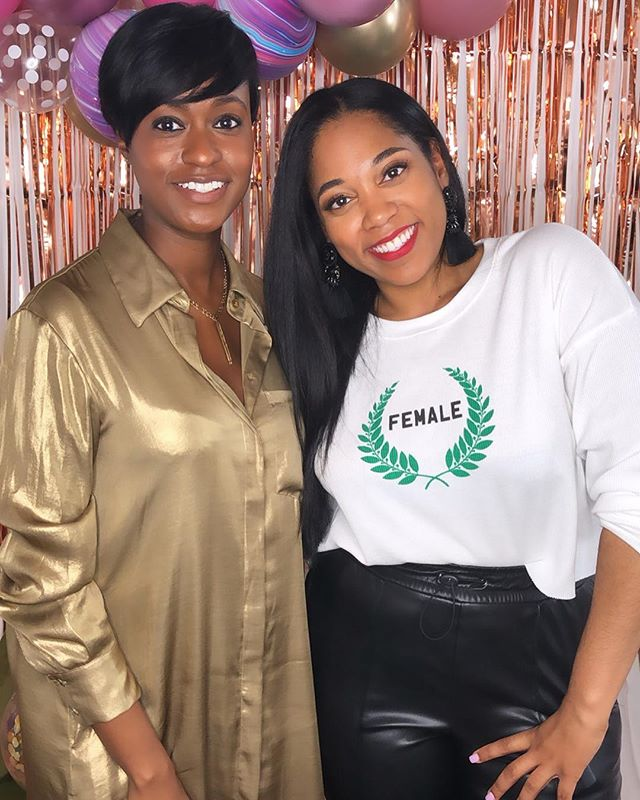 """""""Know your worth, ladies!"""" 💆🏽♀️🥰 Thank you @dominiquebroadway for bringing your financial expertise and #blackgirlmagic to the #SweetTalksLive Retreat! I had a ball interviewing and getting to know you better live on stage. You are the true definition of a women entrepreneur with the charisma to match. We can't wait to see what you do next! 💸💫💕 . . . . . #sweettalks #rva #livepodcast #retreat #podcast #podsincolor #womeninbusiness #bossbabesrva #bosschic #womenofcolor #entrepreneur #networking #knowyourworth #womenentrepreneurs #empowerwomen #girlboss #podcasts #podcasters #womenwholead #blackpodcast #careergoals #entrepreneurs #richmondva #dmv #rvabusiness"""