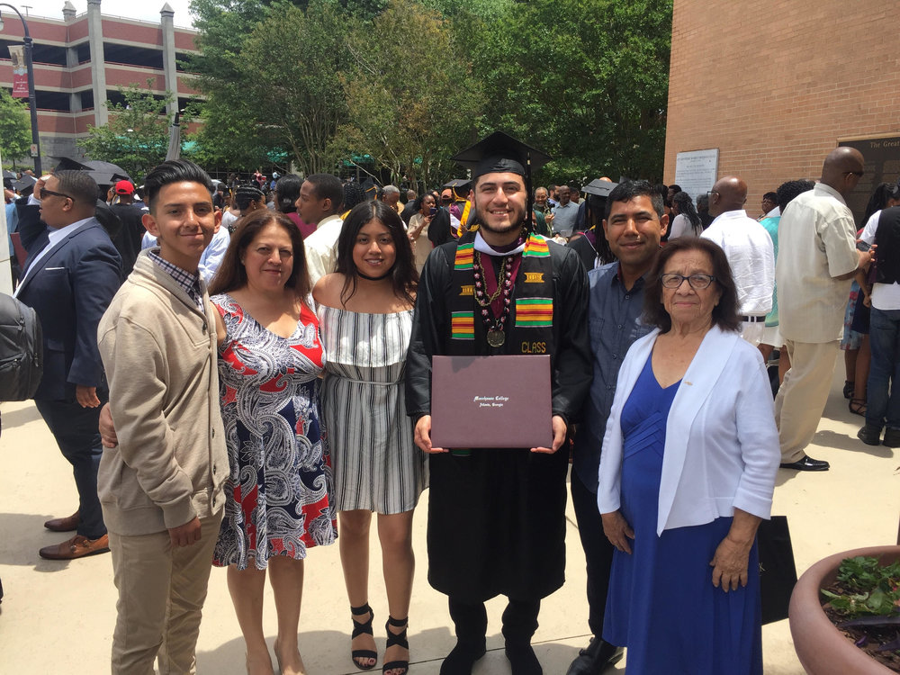 Morehouse Grad Matthew Mena and Family.jpg