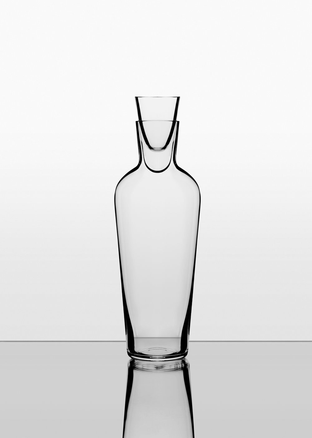 The Old Wine Decanter. - This bottle-shaped decanter allows you to decant a mature wine off its sediment while ensuring that it is not exposed to too much harmful oxygen.The refined shape follows the form of the Wine Glass and the beautiful mouth-blown stopper adds an element of contemporary design to your table.