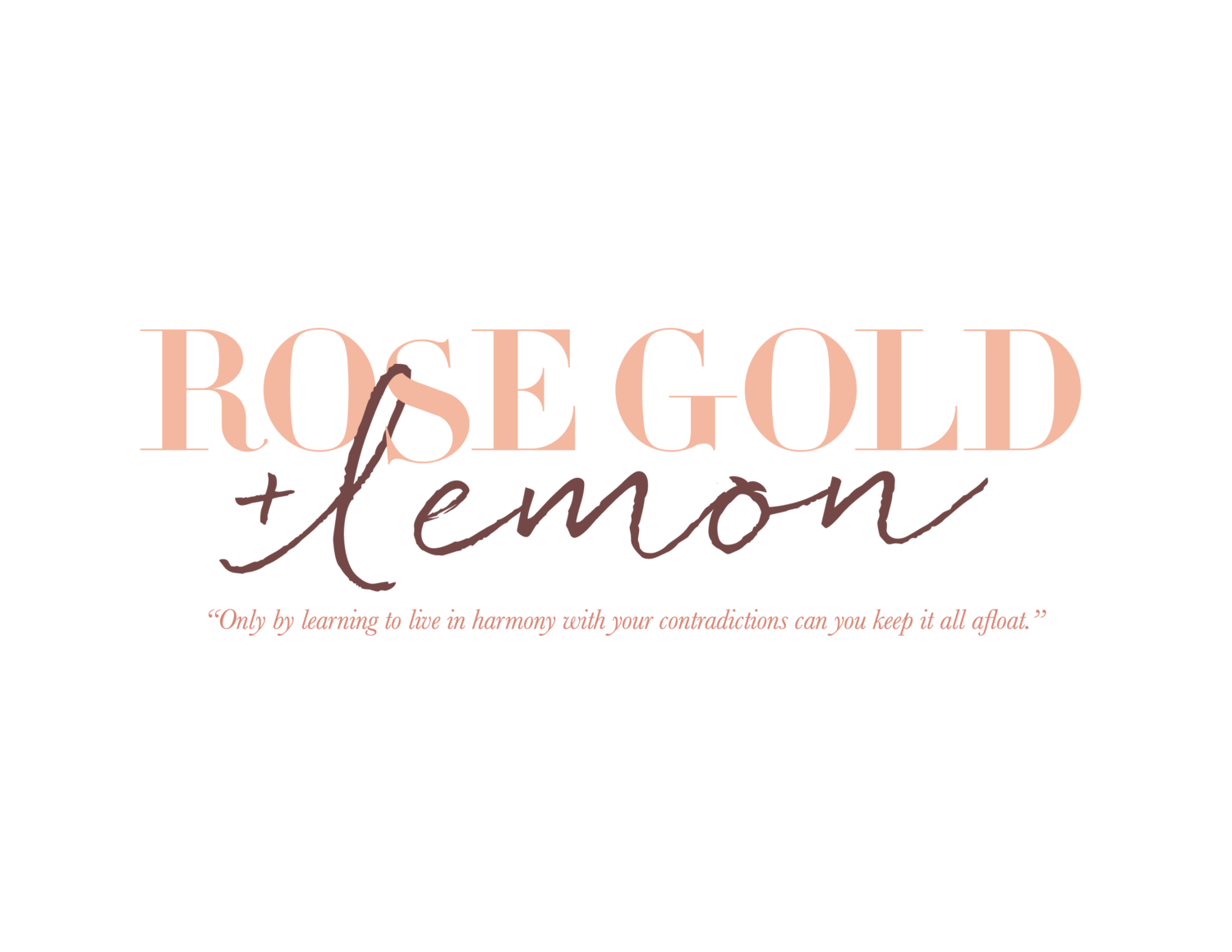 Rosegold and Lemon