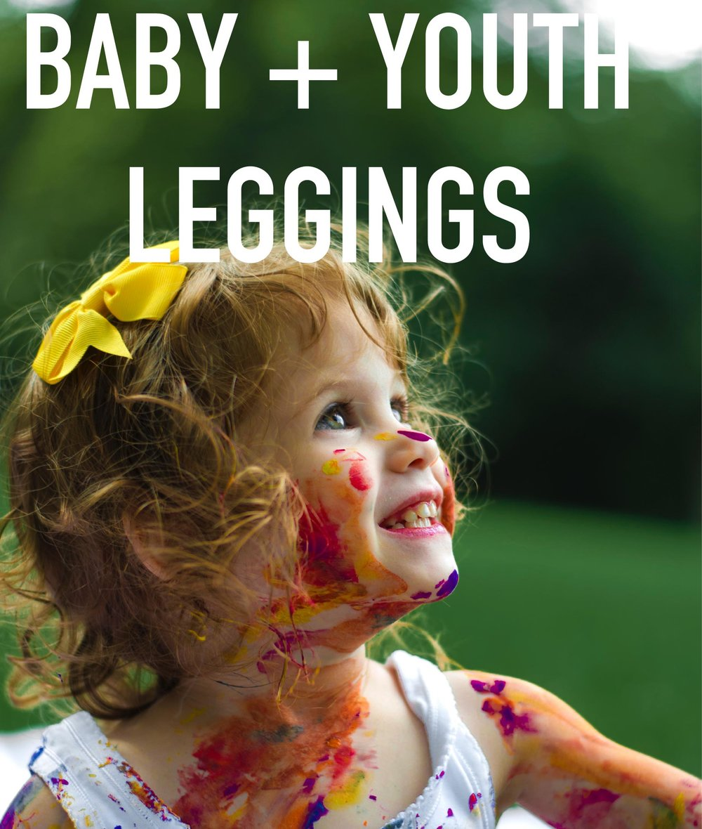 colorful and comfy leggings - choose sizes from 6 months to 12 years old