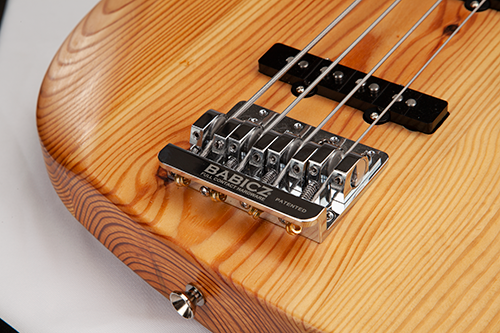 StoryWood 4R-5 J-bass Babicz bridge reclaimed wood