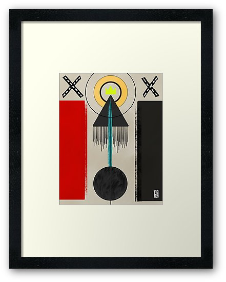 Framed Print - Life Crossing 2019 Digital - Adobe Sketch, iPad Pro, & Apple Pencil.   $$ PURCHASE PRINTS    HERE    $$