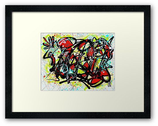 Framed Print - Graffiti Number 8 2019 Digital - Adobe Sketch, iPad Pro, & Apple Pencil.   $$ PURCHASE PRINTS    HERE    $$