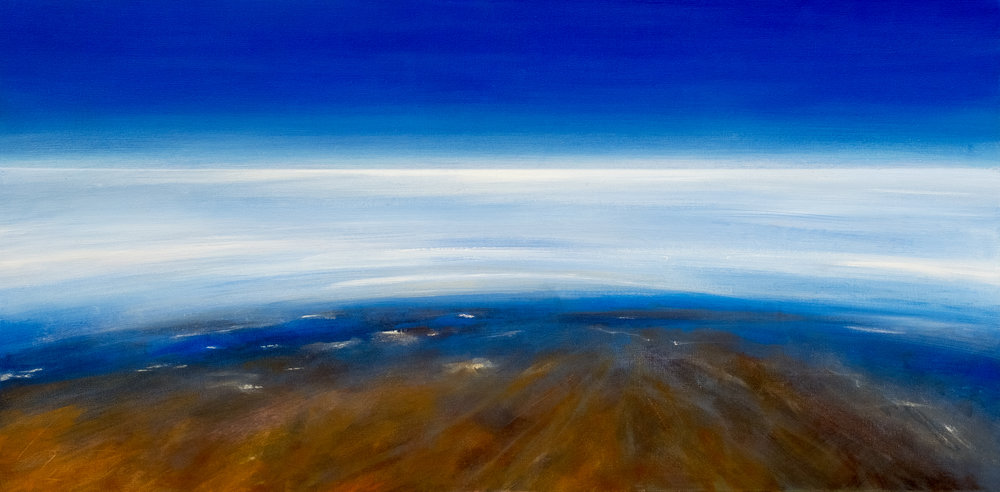 15. Eyre Aerial | Oil on canvas | 61 x 120 cm | $2,500