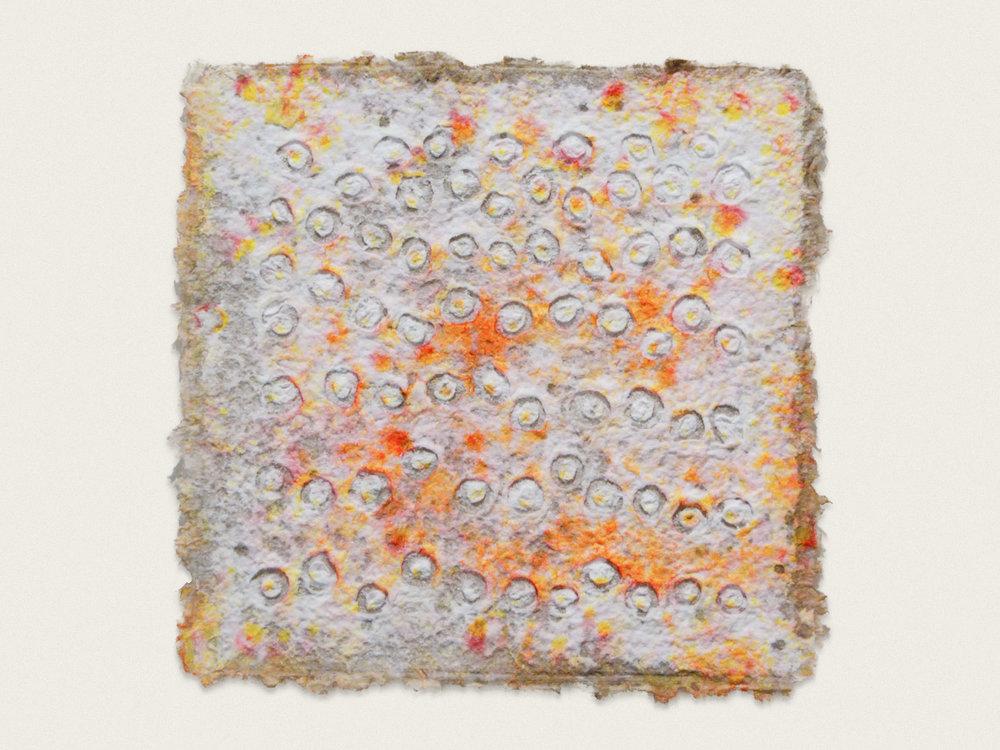 'Untitled'  Ink on Handformed paper - 33cm x 33cm