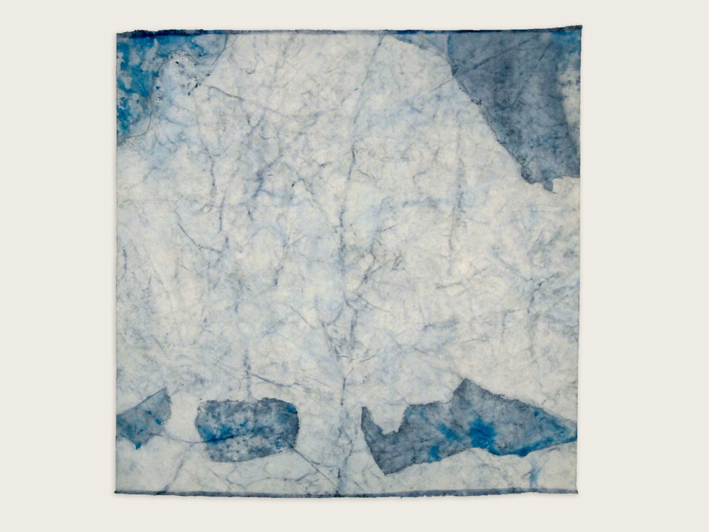 'The Sacred Nature of Trees II'  Indigo on handmade washi paper -   100cm x 100cm