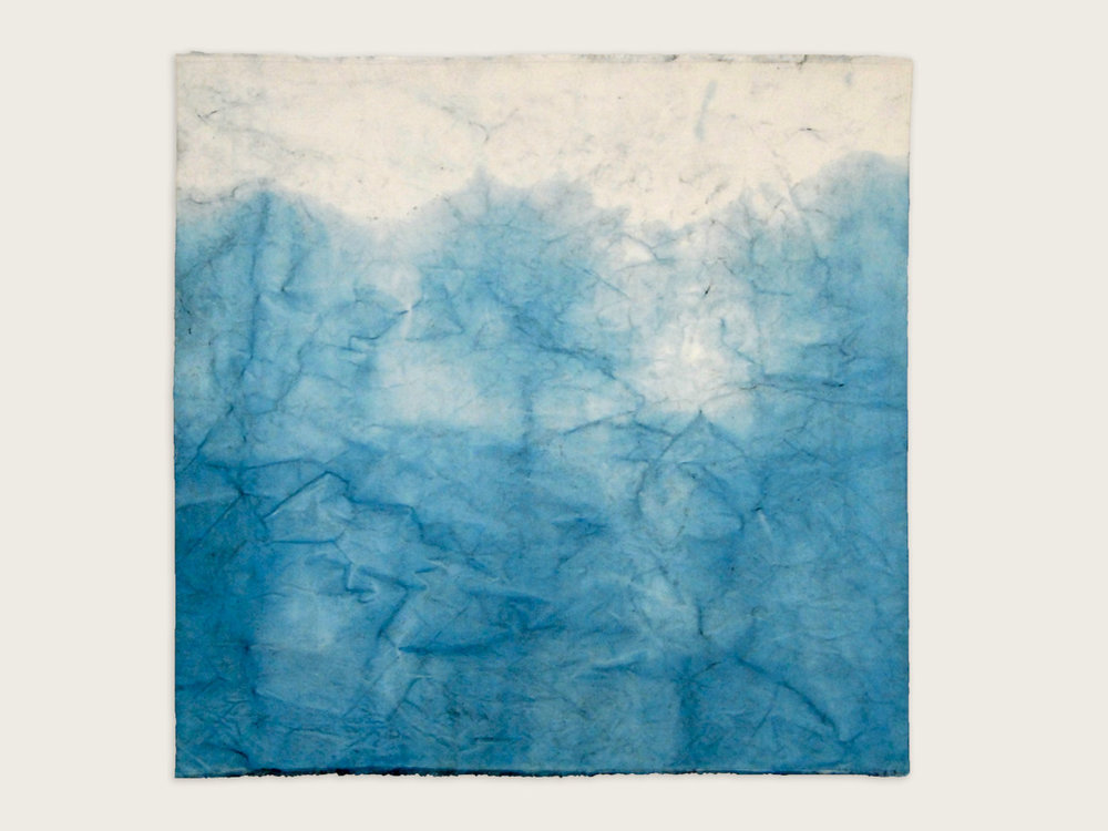 'The Sacred Nature of Trees II'  Indigo on handmade washi paper-   100cm x 100cm