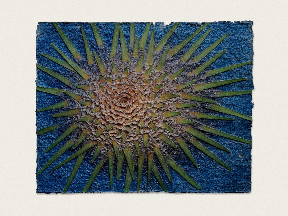 'Spines II'  Aquarelle on handmade paper - 65cm x 47cm